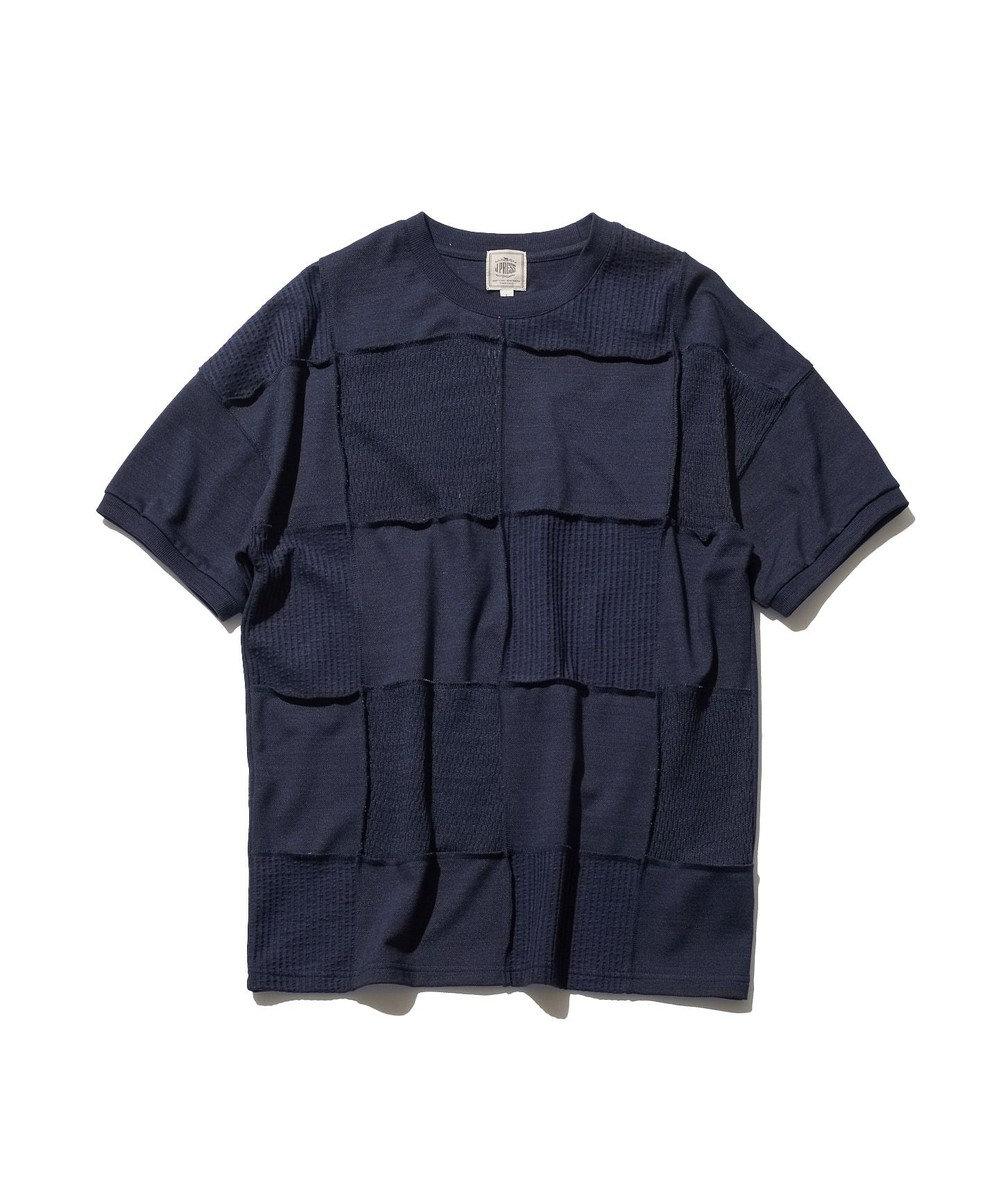 J.PRESS MEN 【大人気】フォギーダイ パッチワークTシャツ ネイビー系
