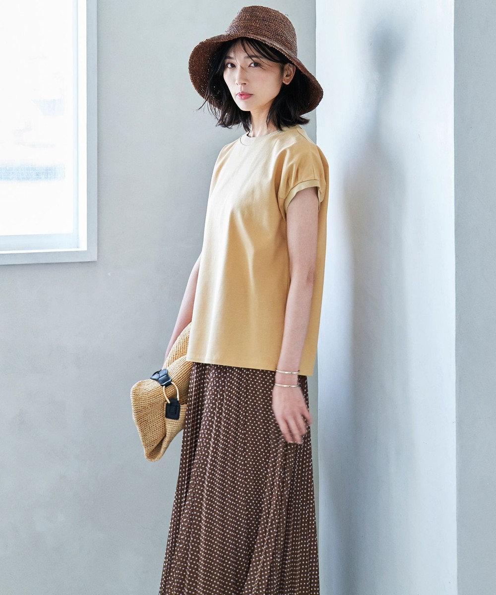 23区 【マガジン掲載】ラフィア ショルダー編み トート バッグ(番号2K57) ベージュ系