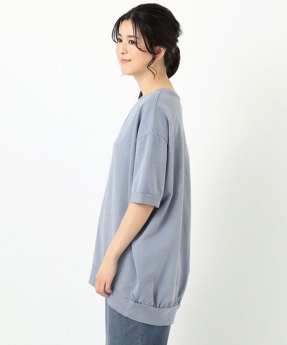 any FAM 【オーガニックコットン】オーガビッツミニ裏毛 Tシャツ スカイブルー系