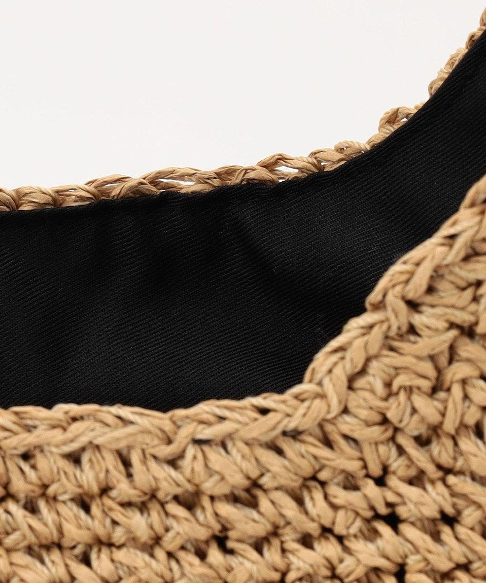 UNBILLION cachecache メッシュ丸手ハンドル2way手編みトートバッグ ブラック