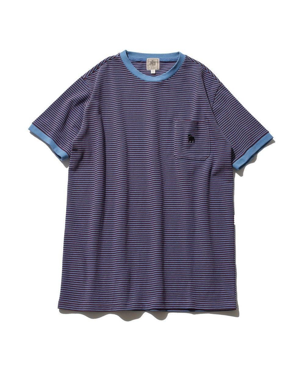 J.PRESS MEN 【大人気】アメリカンコットン バックブル ボーダーTシャツ レッド系1