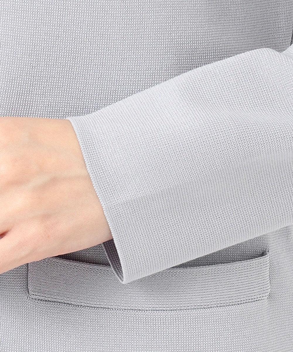 組曲 【セットアップ対応】ライトニットアップ ニットジャケット ライトグレー系