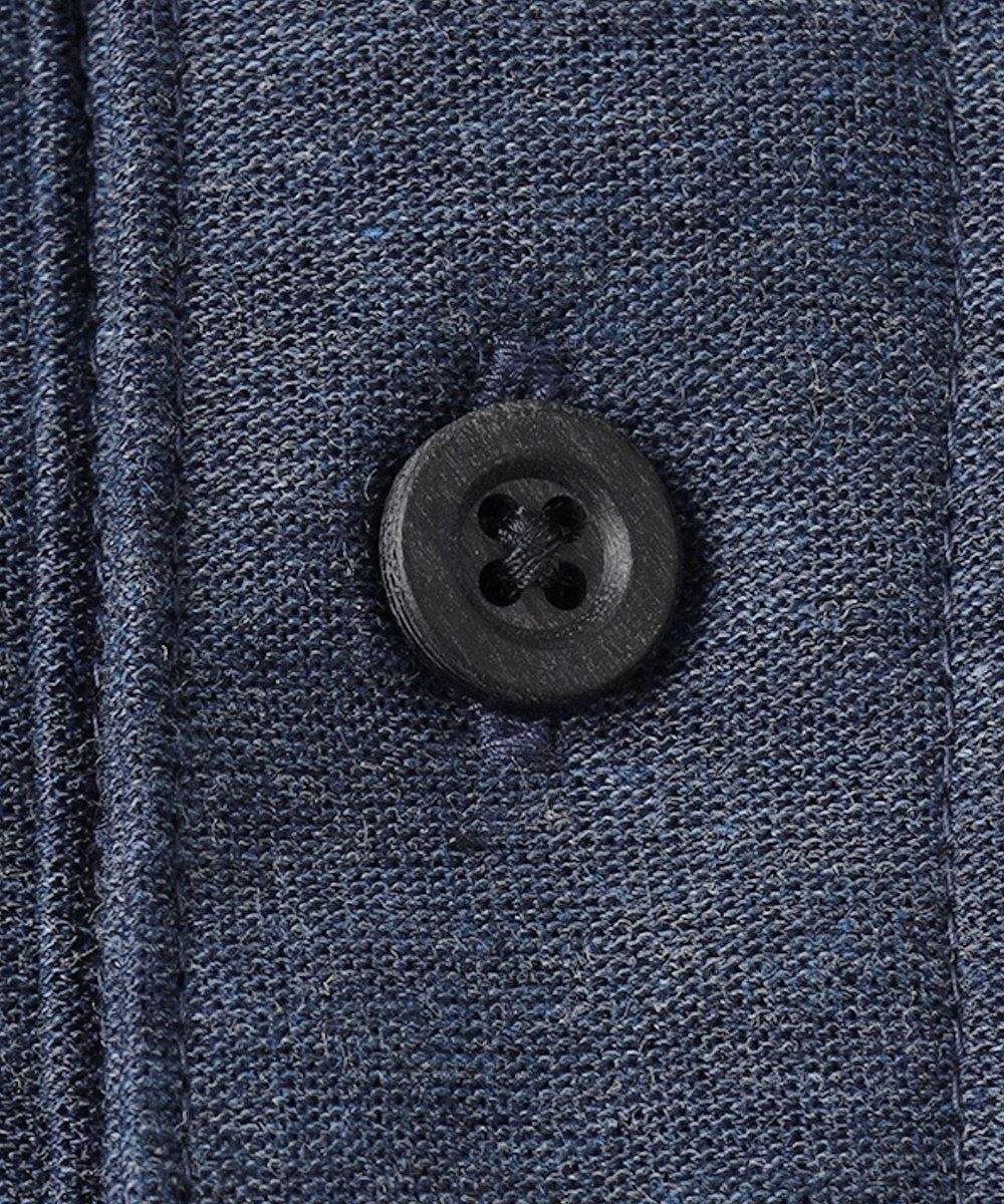 JOSEPH ABBOUD 【SPACE】OGスラブプレーティング天竺 ポロシャツ ブルー系