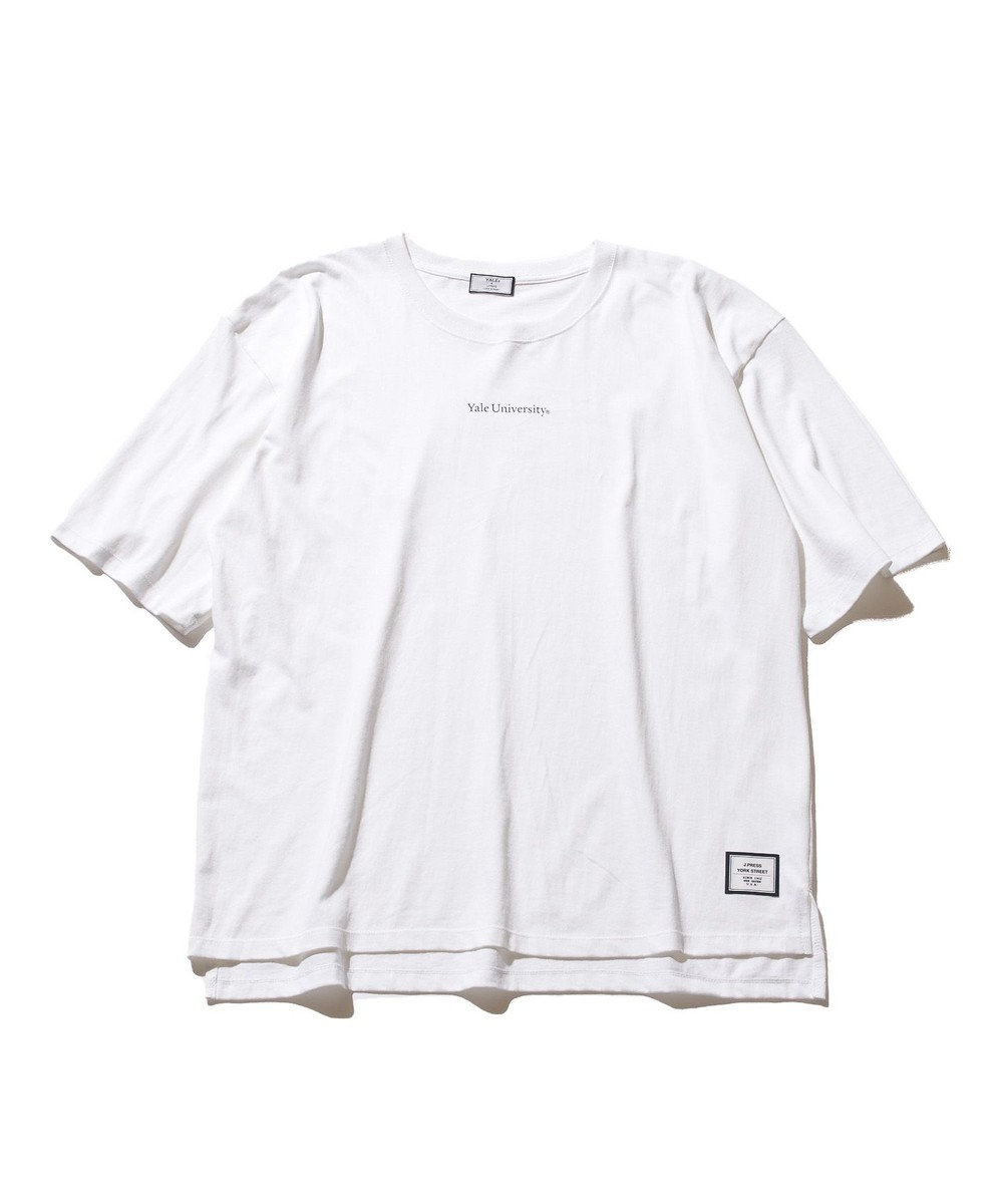 J.PRESS YORK STREET 【UNISEX】天竺 YALE UNIVERSITTY Tシャツ ホワイト系