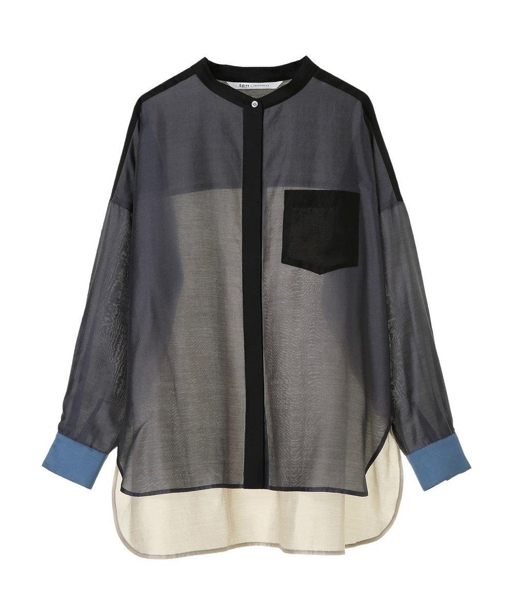 YECCA VECCA 4col.シアーシャツ Charcoal Gray