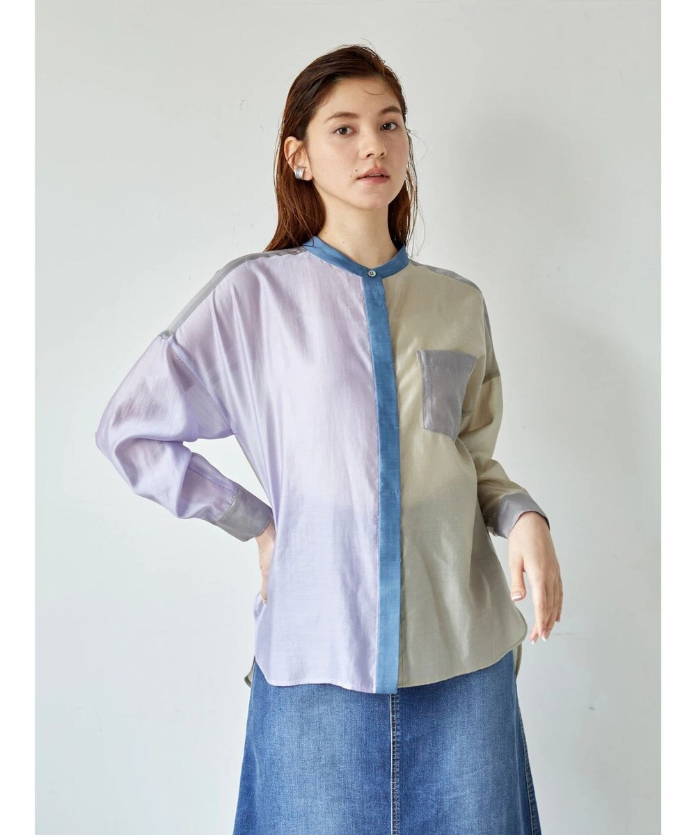 YECCA VECCA 4col.シアーシャツ Lavender