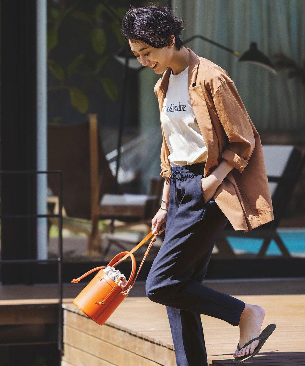 23区 L 【洗える】ユーティリティツイル ジャケット ブラウン系