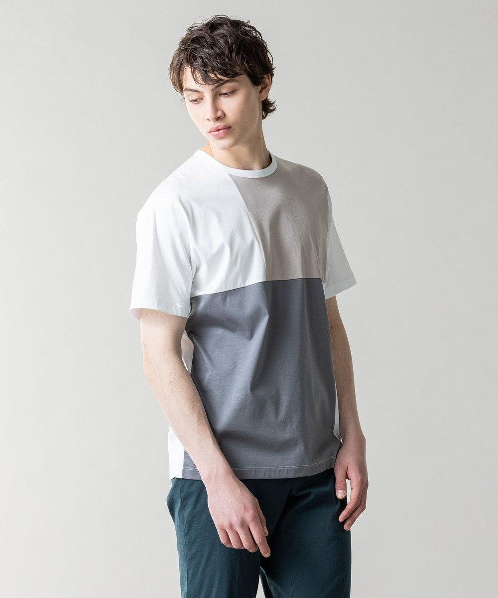 JOSEPH HOMME カラーコットンブロック Tシャツ ホワイト系3