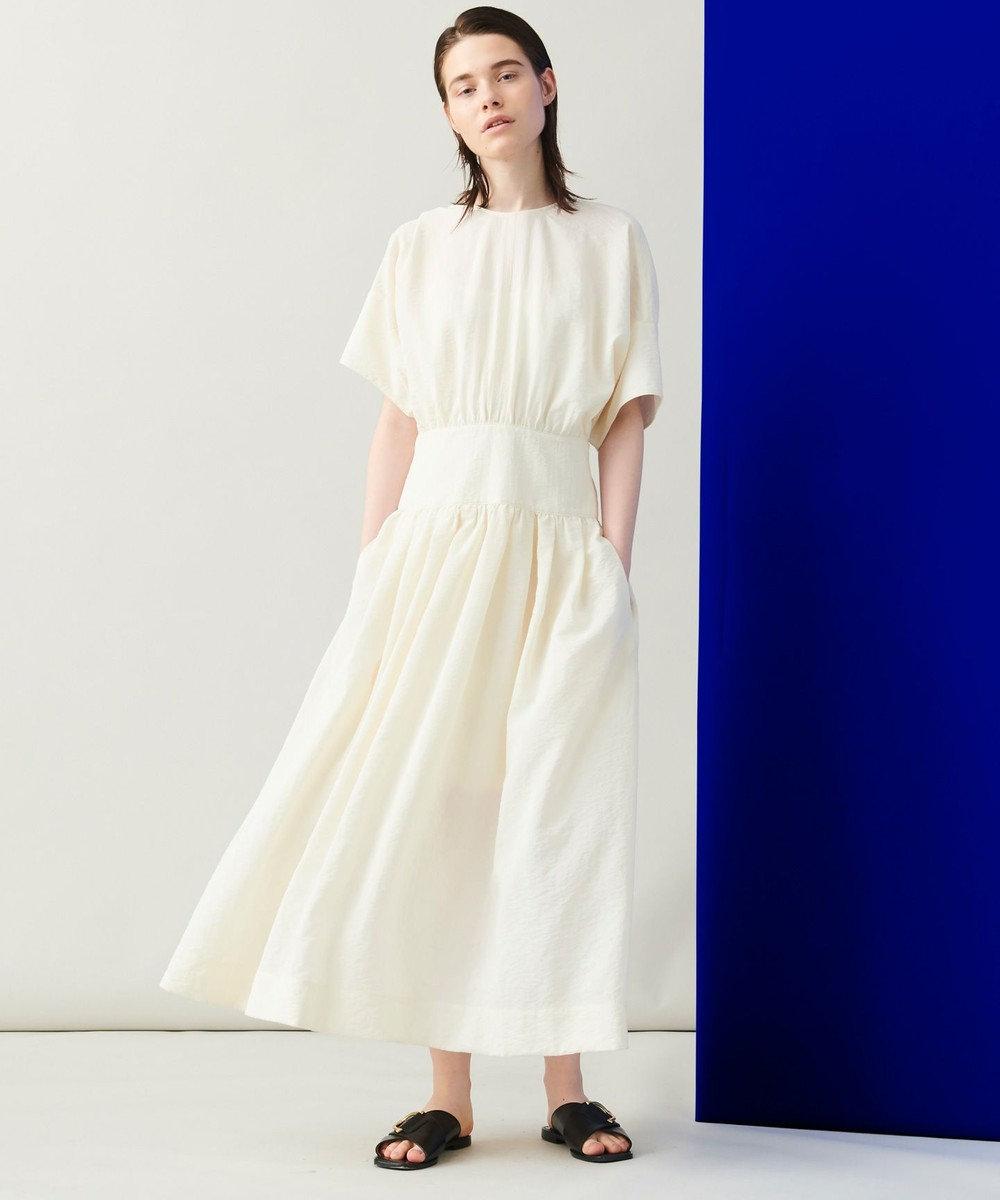 JOSEPH 【洗える】シルクナイロンワッシャー ドレス アイボリー系