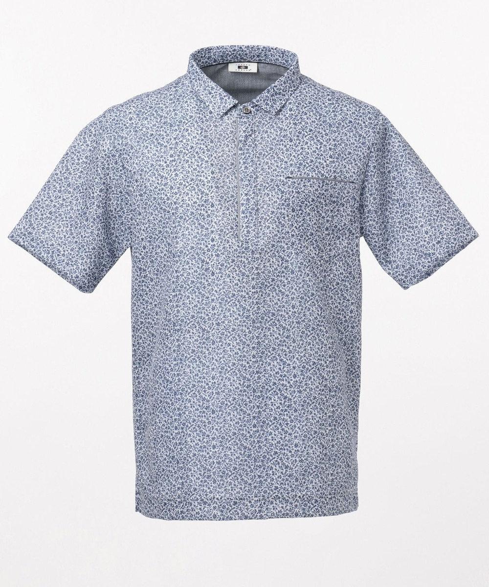JOSEPH ABBOUD リネントップカノコ ポロシャツ ネイビー系5