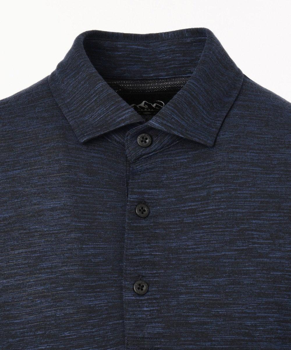 JOSEPH ABBOUD 【JOSEPH ABBOUD MOUNTAIN】ランダムスラブリップル ポロシャツ ネイビー系