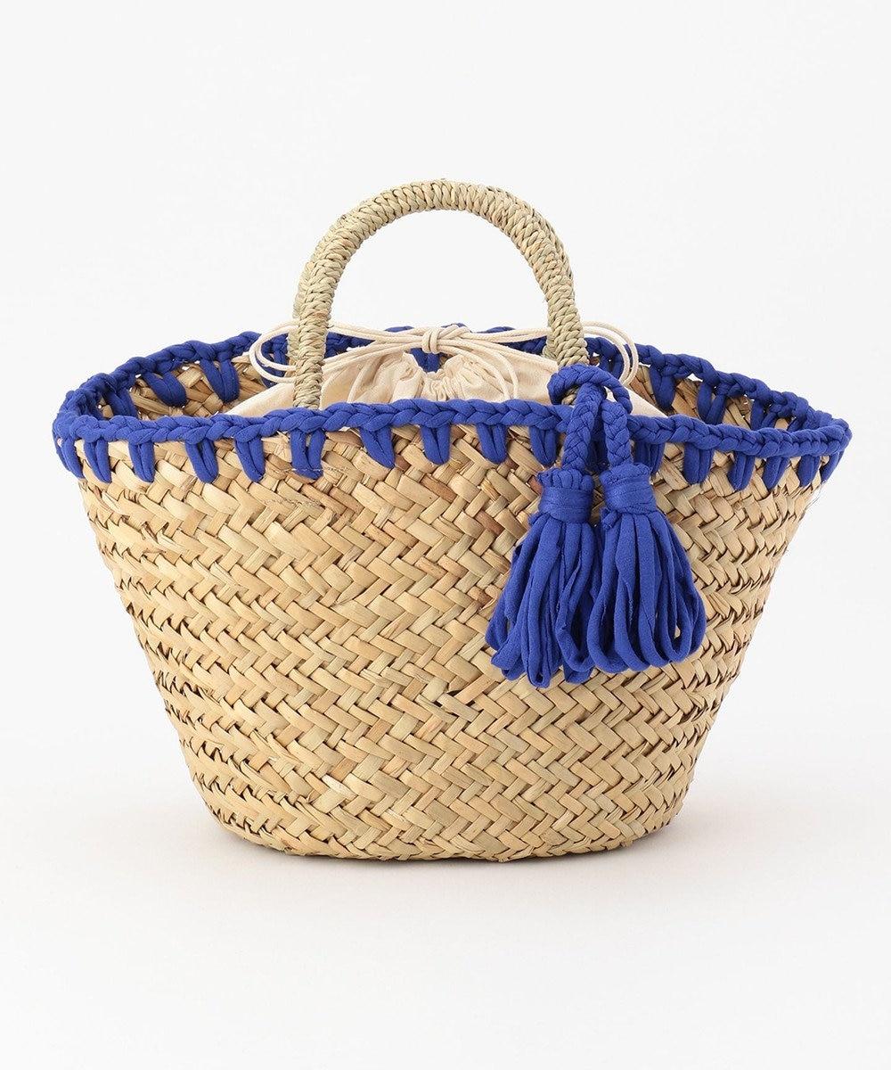 UNBILLION cachecache かがり編み水草カゴバッグ ブルー