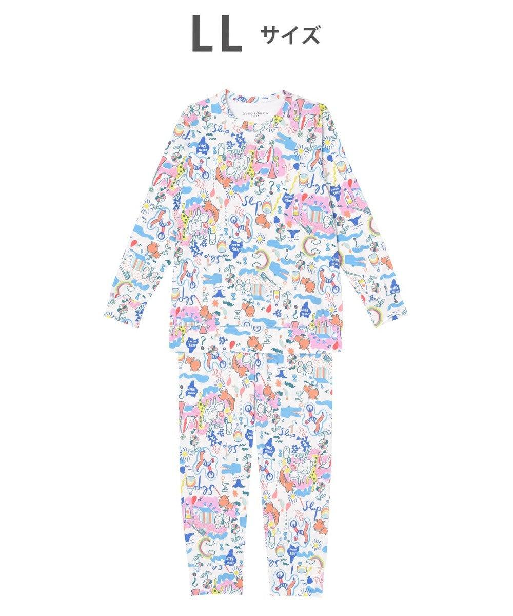 tsumori chisato SLEEP パジャマ ロング袖ロングパンツ スムース素材 /ワコール UDO259 アイボリー