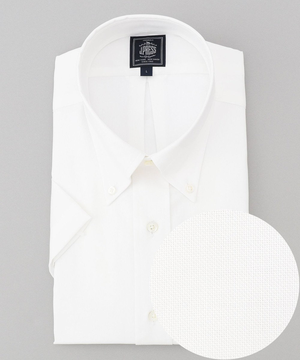 J.PRESS MEN 【一部店舗・WEB限定】 ボタンダウン 半袖ドレスシャツ ホワイト系