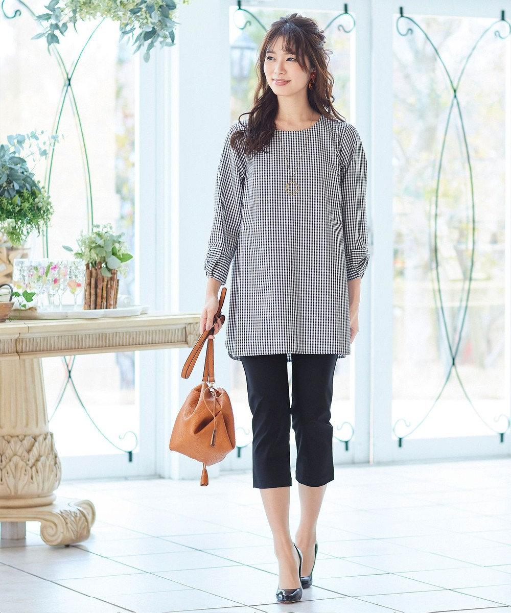 Tiaclasse 【日本製・洗える】レギンス感覚で穿けるストレッチパンツ ブラック