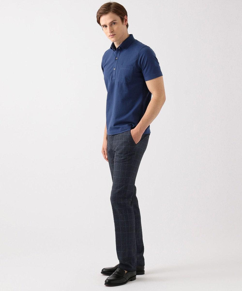 JOSEPH ABBOUD 【キングサイズ】JCミニサッカー ポロシャツ ブルー系1