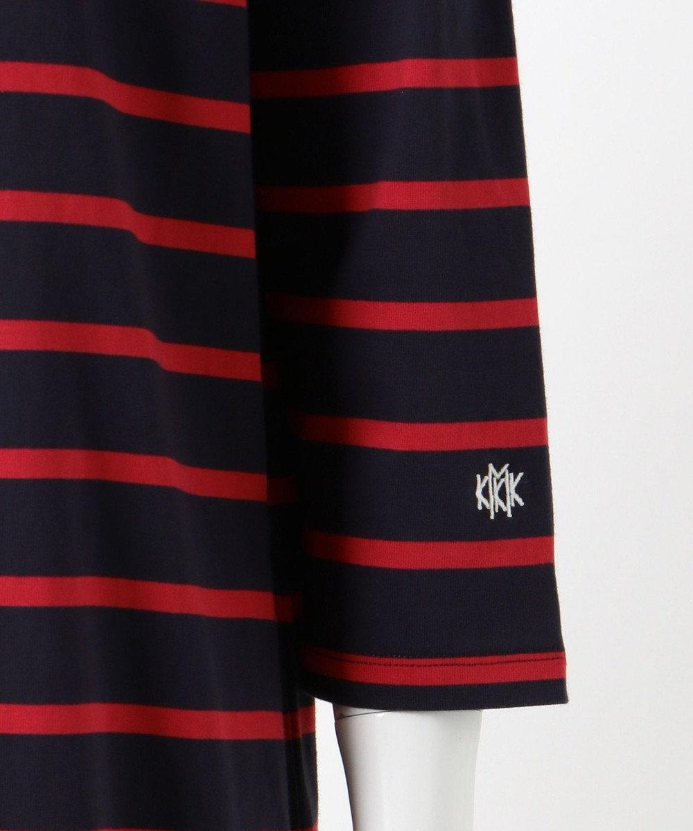 組曲 L 【KMKK】コットンテンジク ボートネック ワンピース(KF68) ネイビー系1