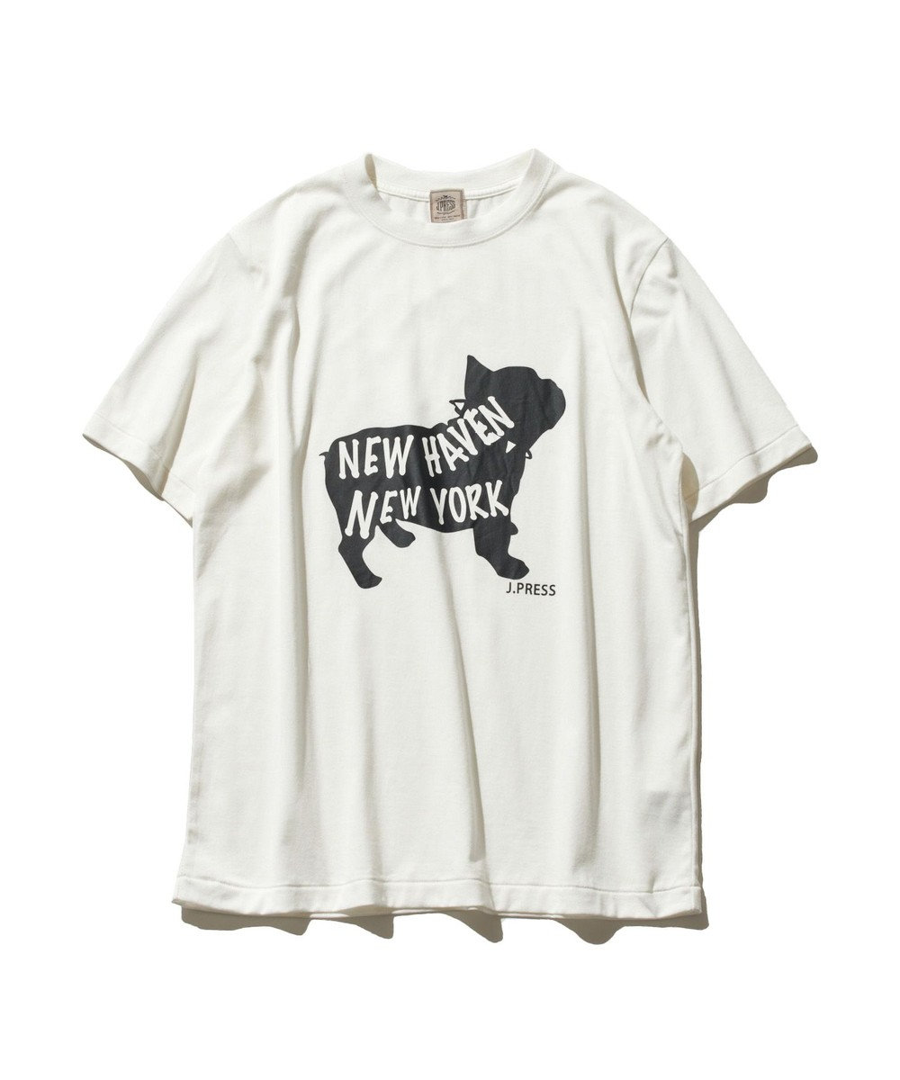 J.PRESS MEN 【大人気】ブルドックTシャツ ホワイト系