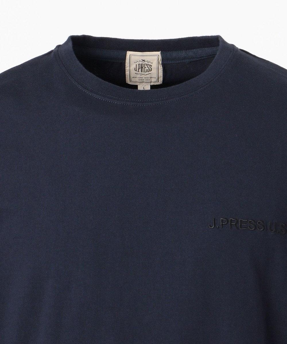 J.PRESS MEN 【J.PRESSロゴ】天竺 Tシャツ ネイビー系
