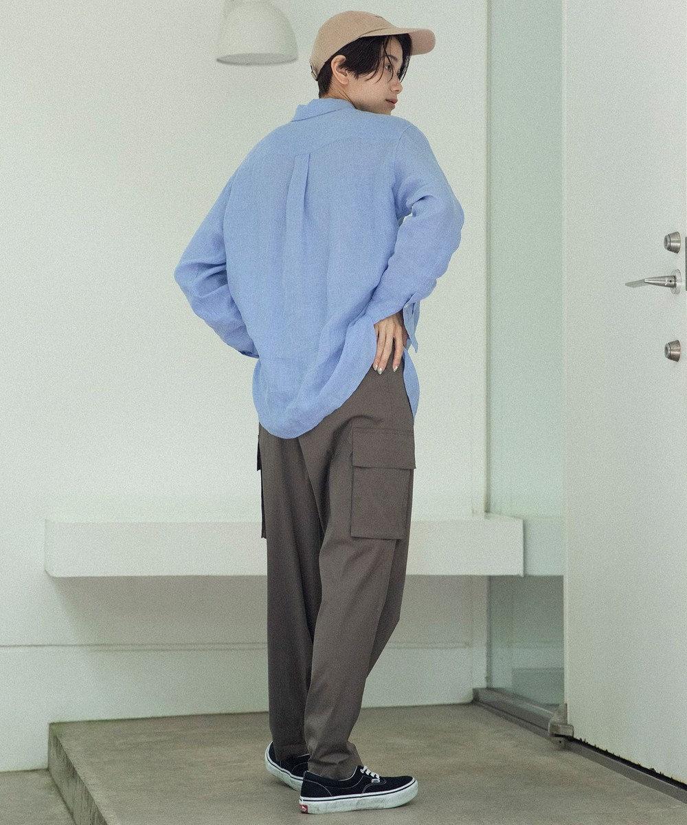 23区 L 【マガジン掲載】LIBECO スタンダード シャツ(番号2K24) [一部店舗限定]スカイブルー系