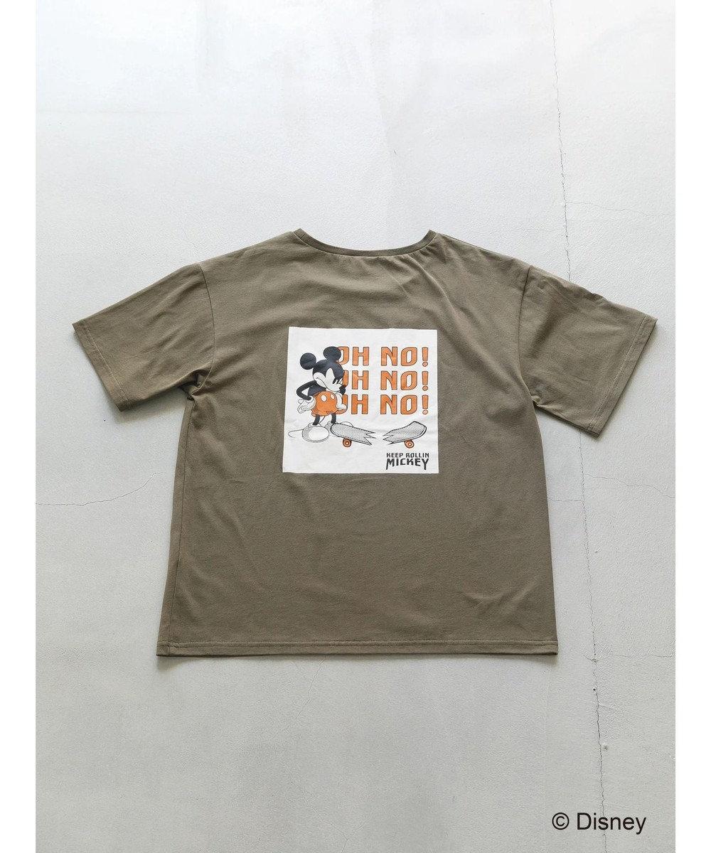 koe mickey skateboard Tシャツ Khaki