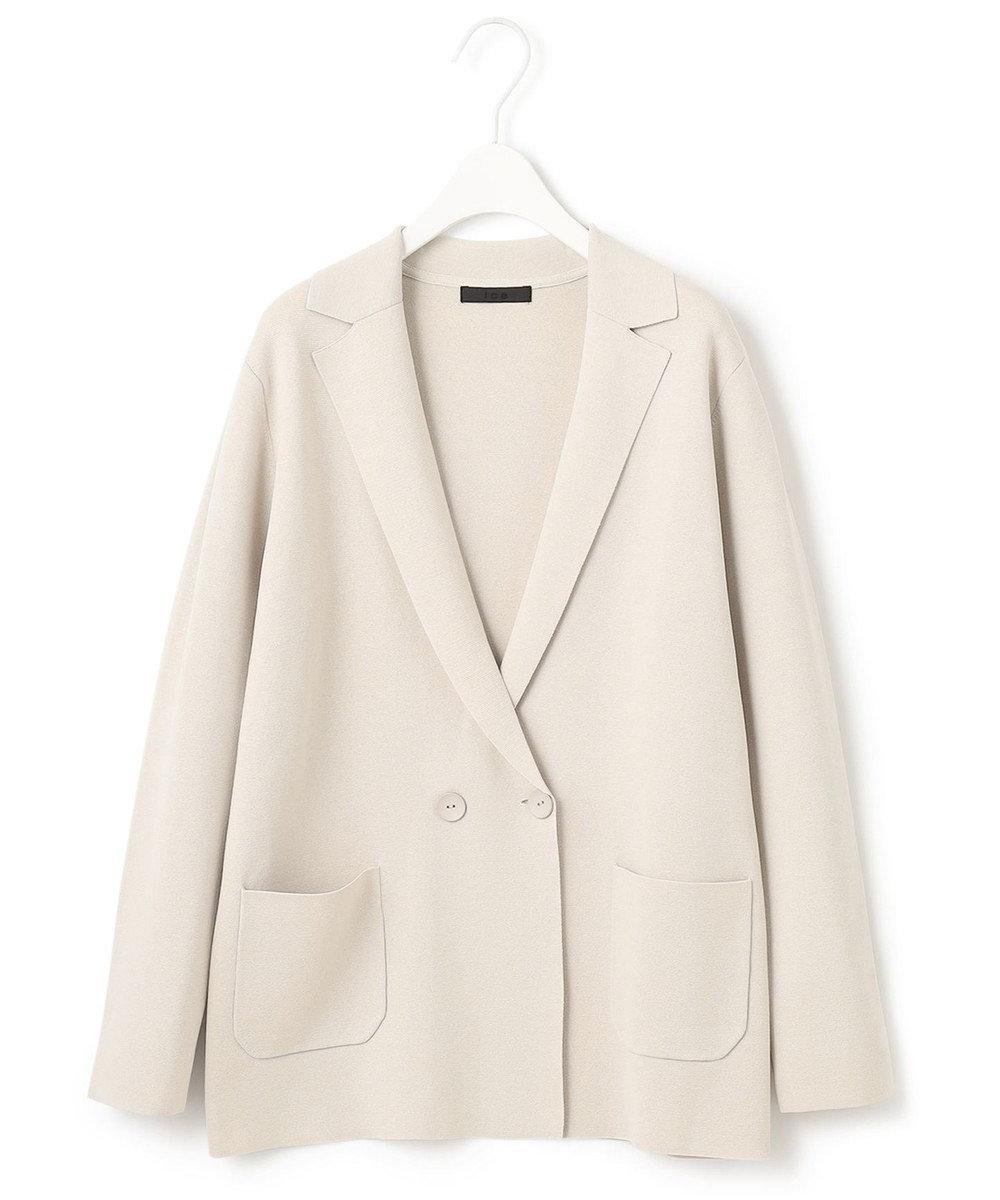 ICB L 【洗える】 ComfortMilano ニットジャケット ベージュ系