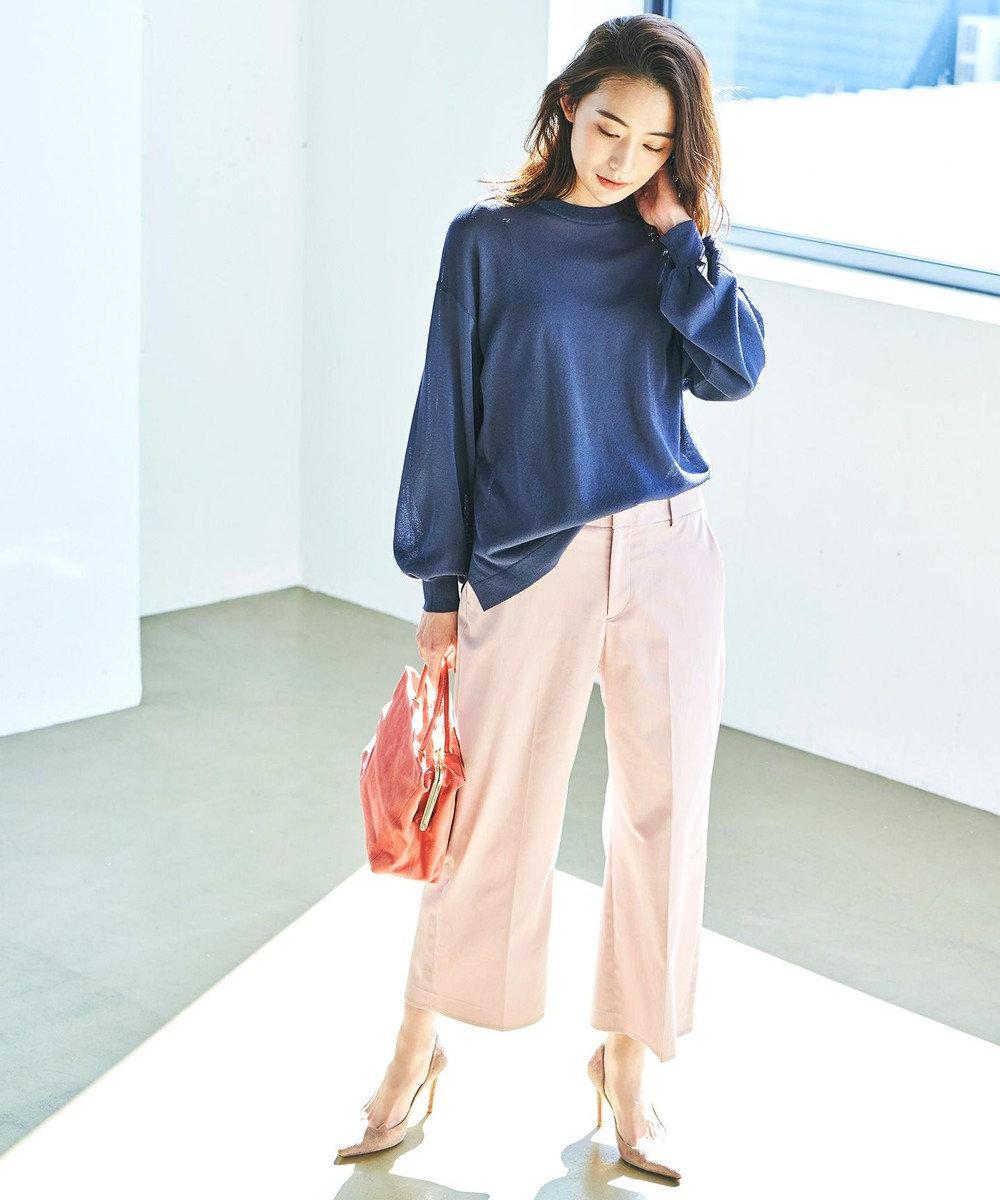 自由区 【UVケア】COOLMAX クロップドワイドパンツ ピンク系
