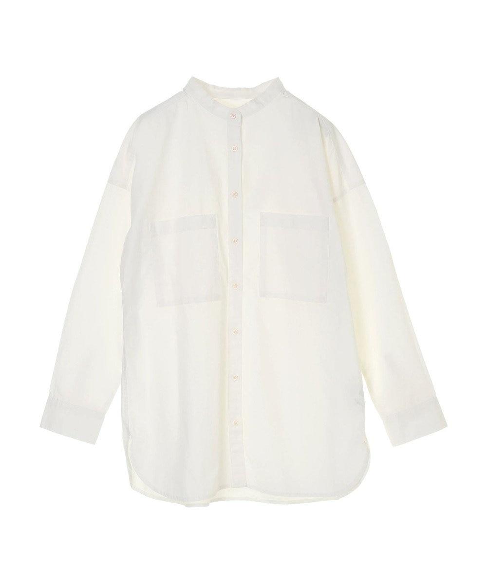 Green Parks 両ポケット付きワークチュニシャツ Off White