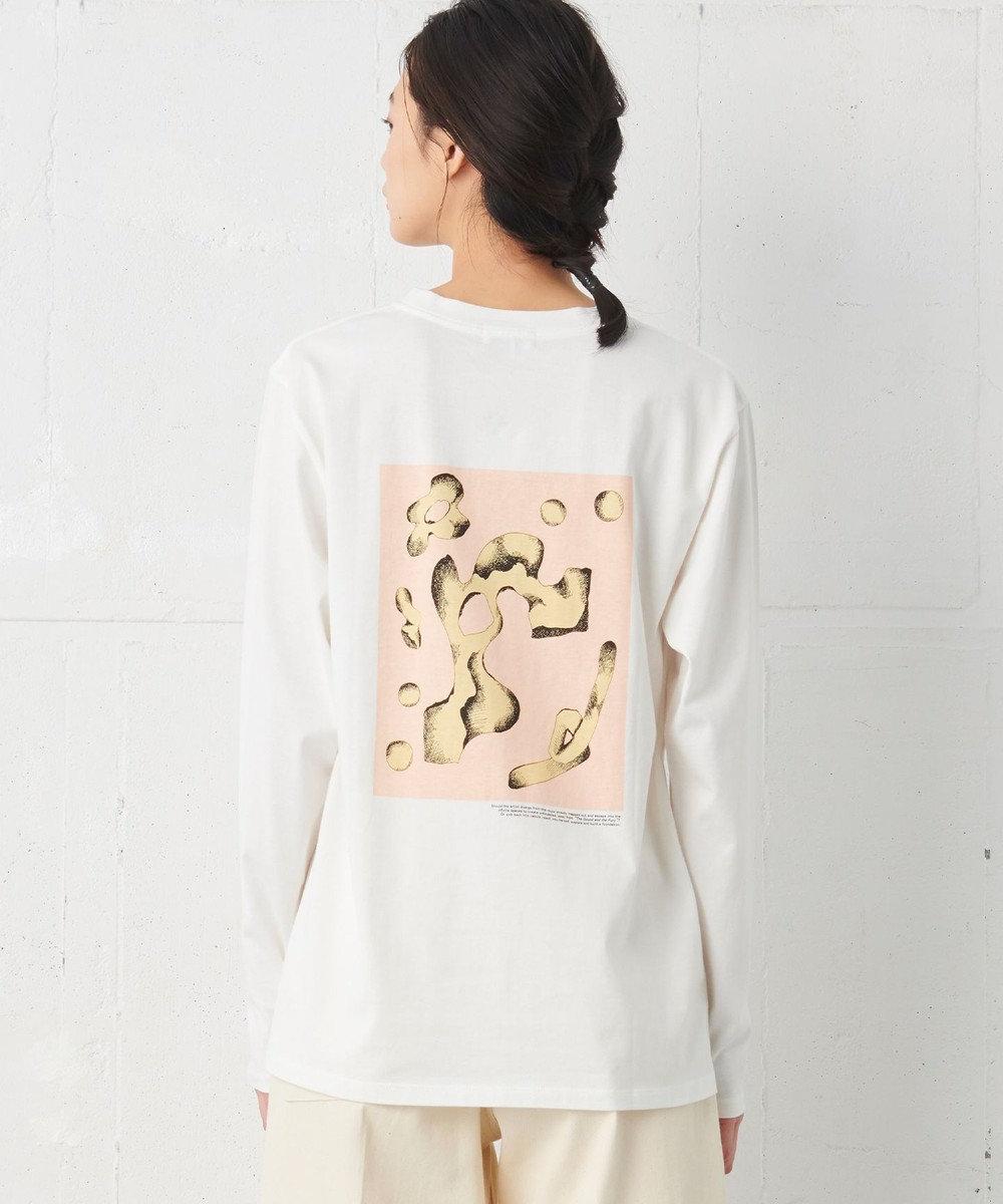 JOSEPH 【JOSEPH STUDIO・洗える】キュビズムプリント バックプリントTシャツ ホワイト系