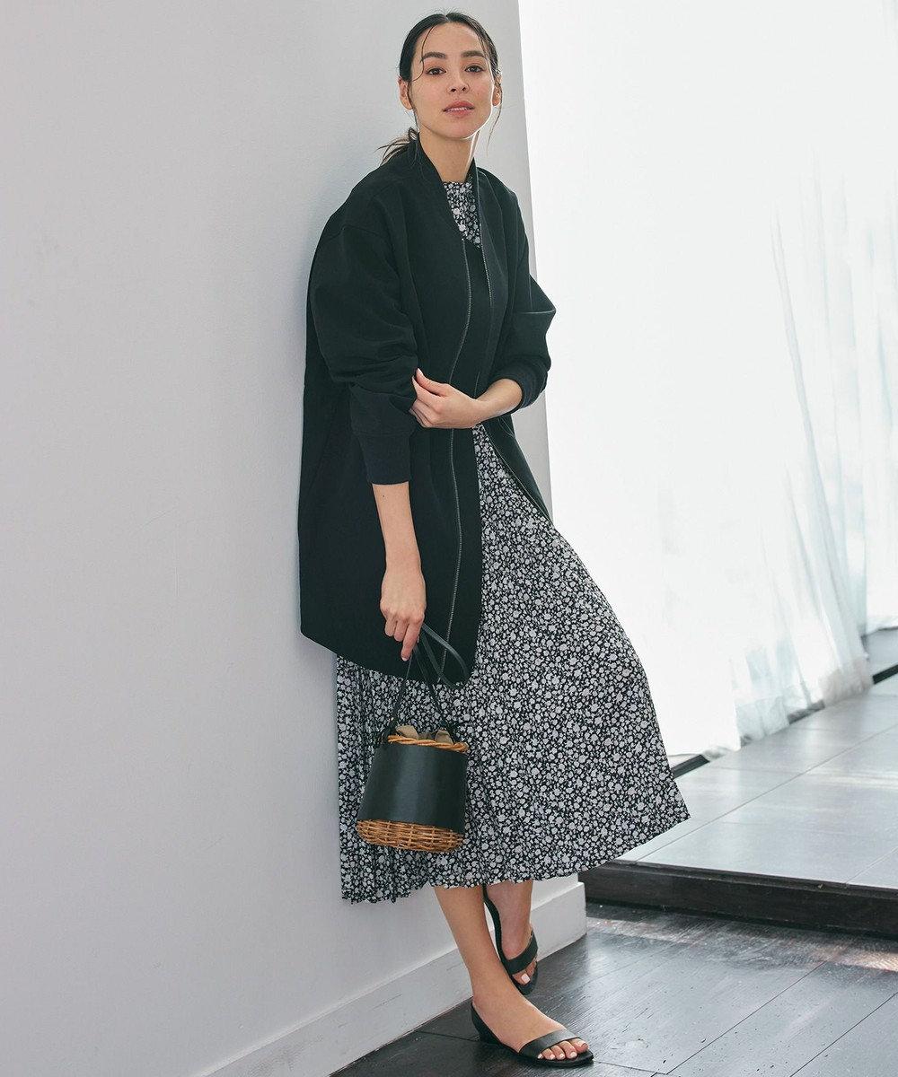 any FAM 【洗える】ヴィンテージフラワープリント ワンピース ブラック系5