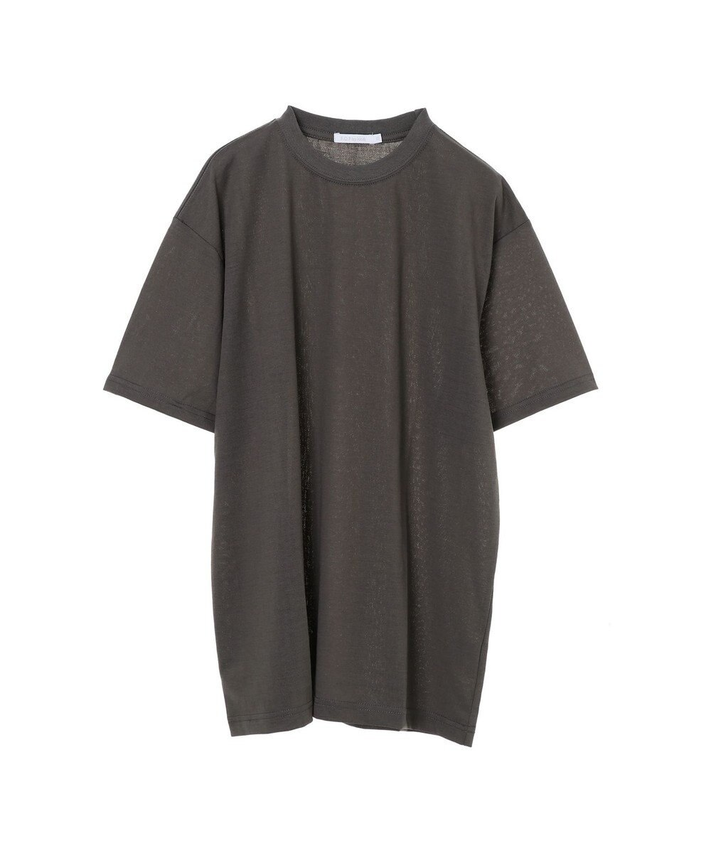 koe 梨地天竺クルーネックTシャツ Charcoal Gray