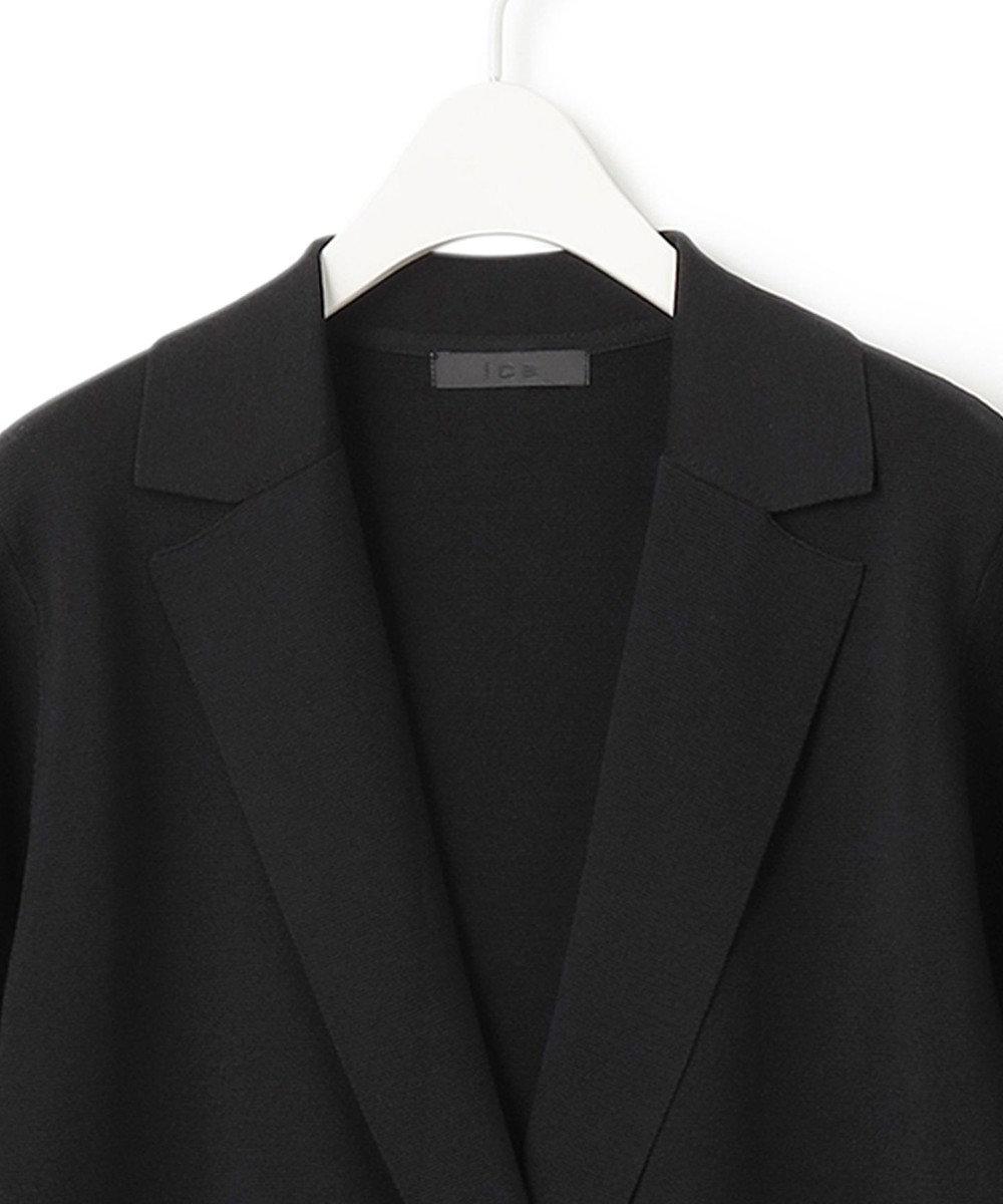 ICB L 【洗える】 ComfortMilano ニットジャケット ブラック系