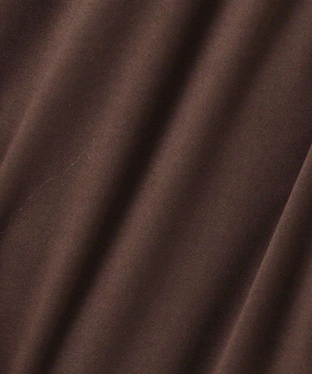 J.PRESS LADIES L 【UVケア・消臭効果・接触冷感】コンパクトコットンスムース バンドカラー ワンピース ダークブラウン系