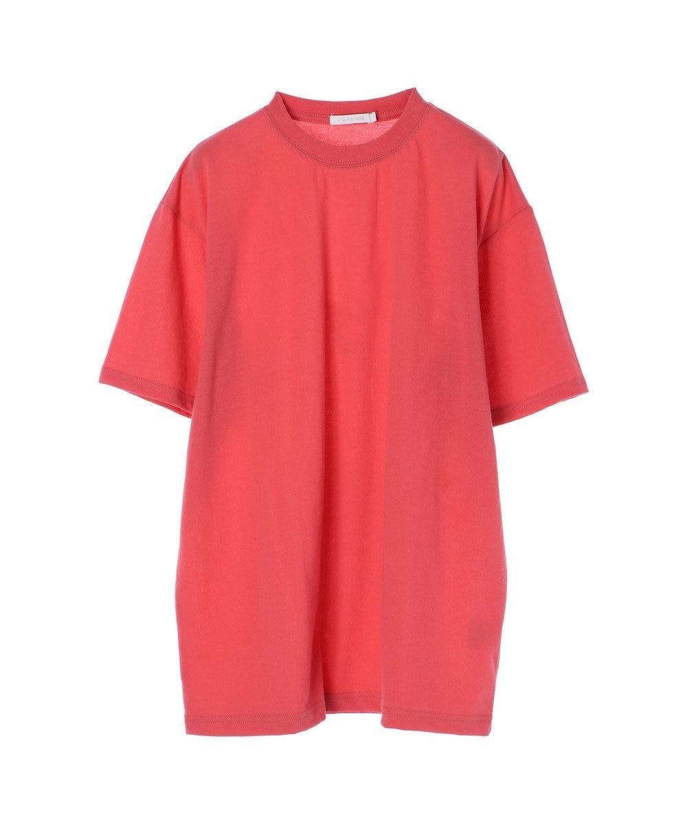 koe 梨地天竺クルーネックTシャツ Pink