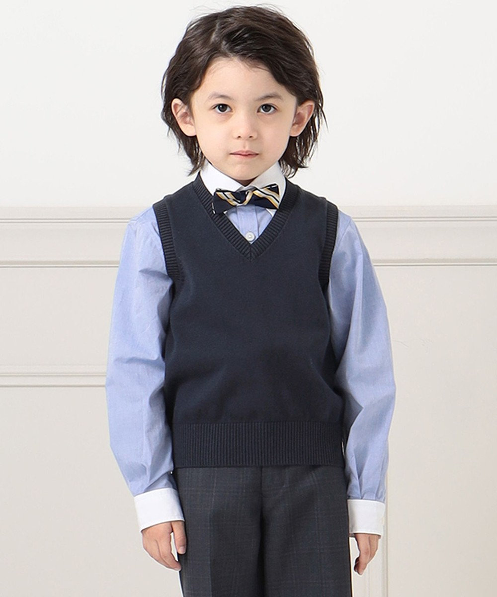 J.PRESS KIDS 【120-130cm】クレリック シャツ ブルー系