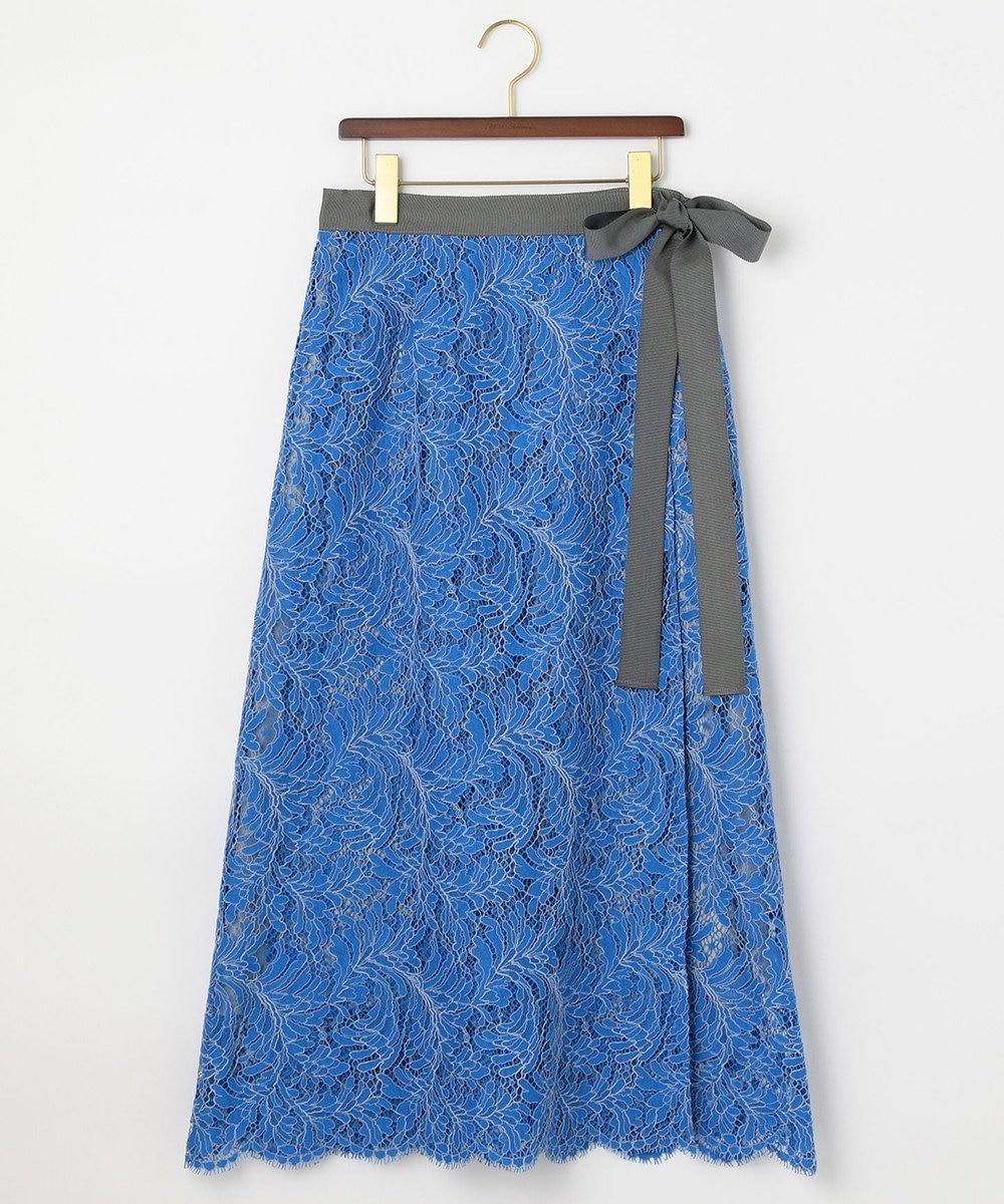自由区 【Class Lounge】ソフィアレット レース ラップ スカート ブルー系