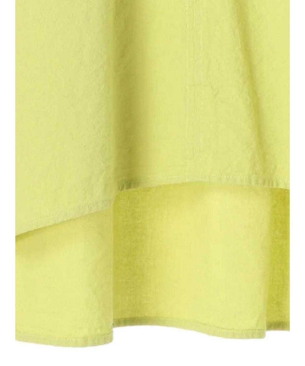 Green Parks ベルギーリネンブレンド ギャザーブラウス Yellow
