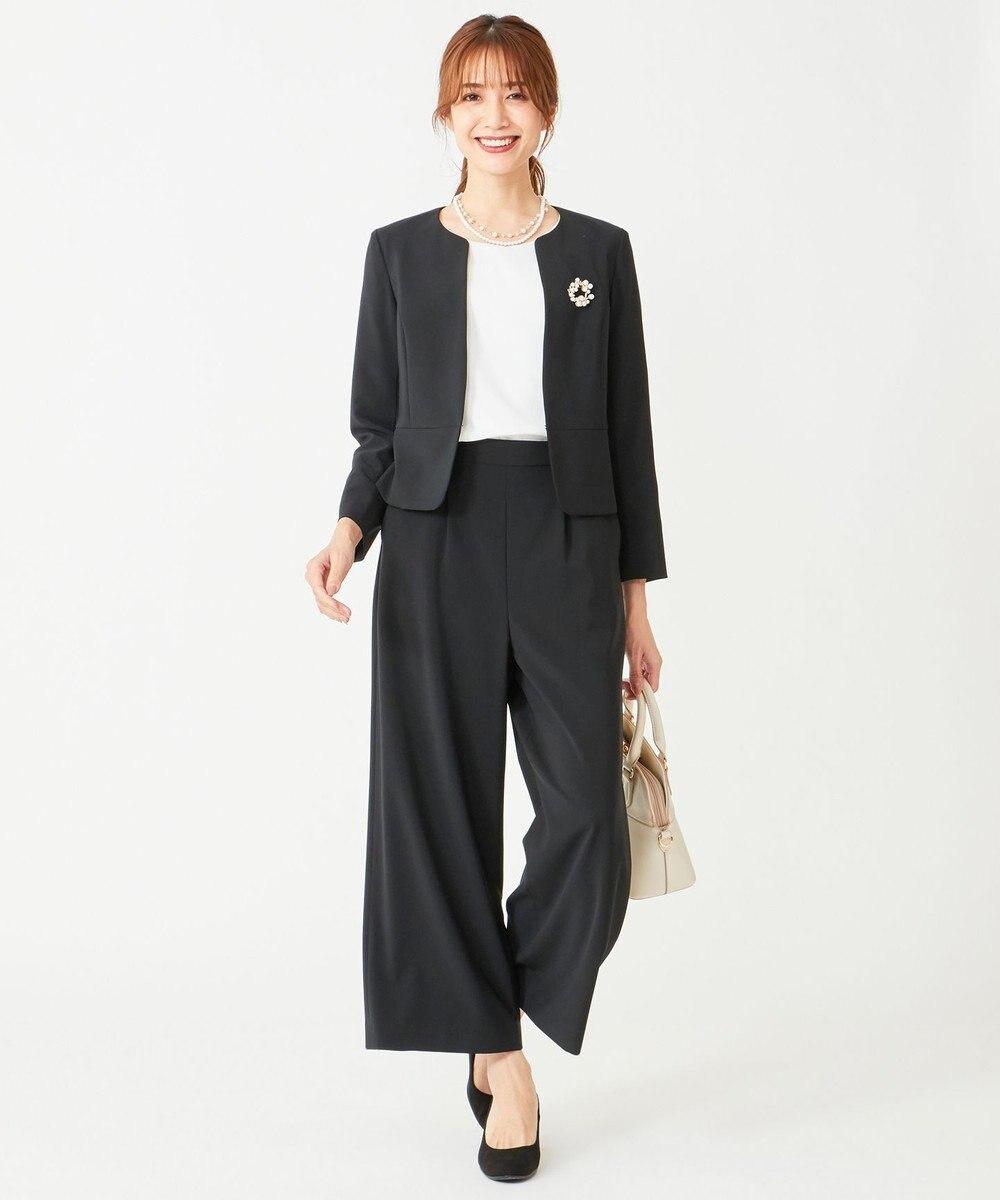 any SiS L 【セットアップ対応】セレモニーダブルクロス ワイド パンツ ブラック
