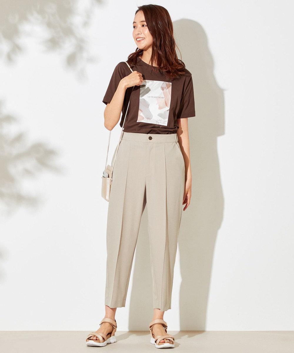 any SiS 【NAIL HOLICコラボ】プリント Tシャツ ブラウン