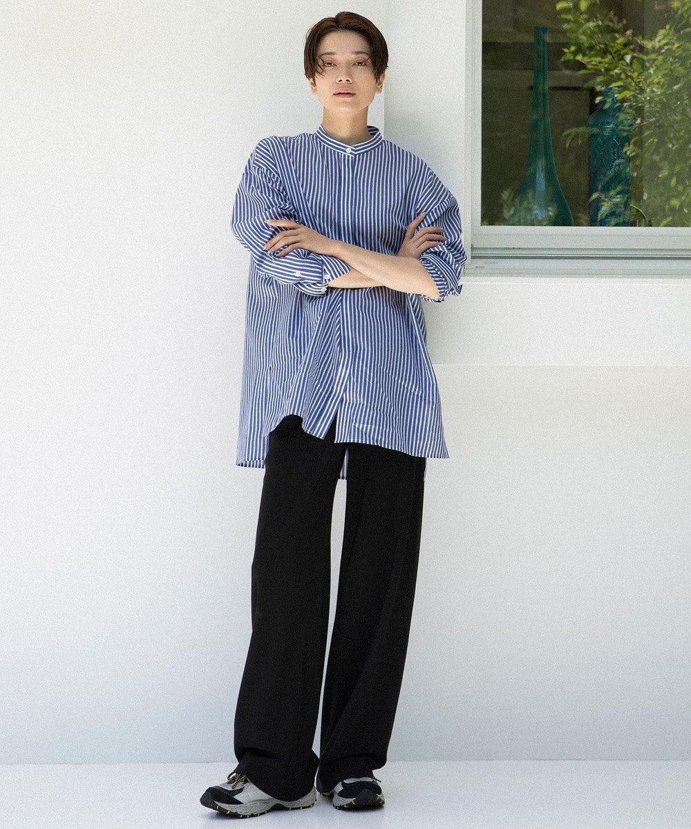 23区 L 【中村アンさん着用】ストレッチツイル ストレート パンツ(番号2C28) ブラック系