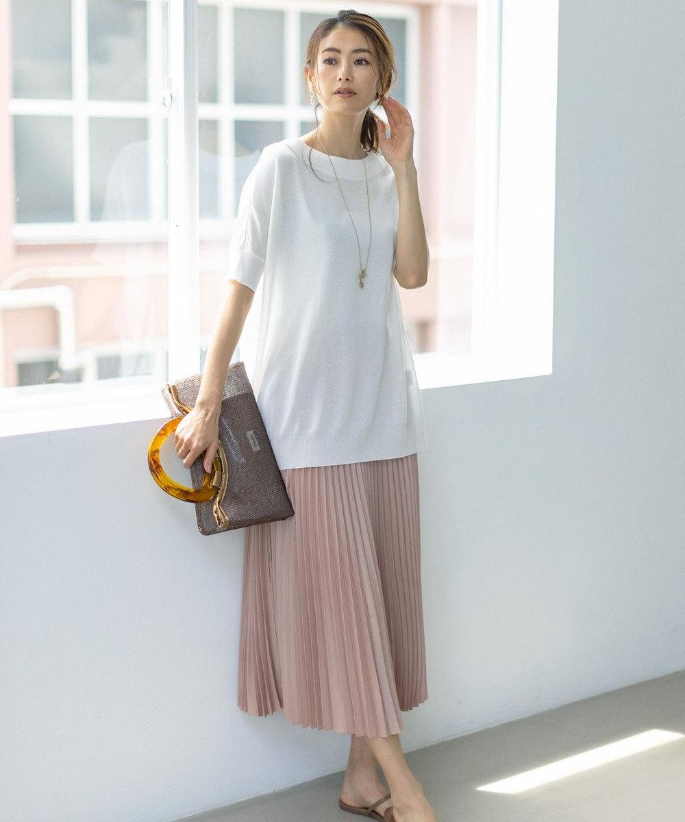 組曲 【春の新色2色登場!/洗える】アコーディオン プリーツスカート ピンク系