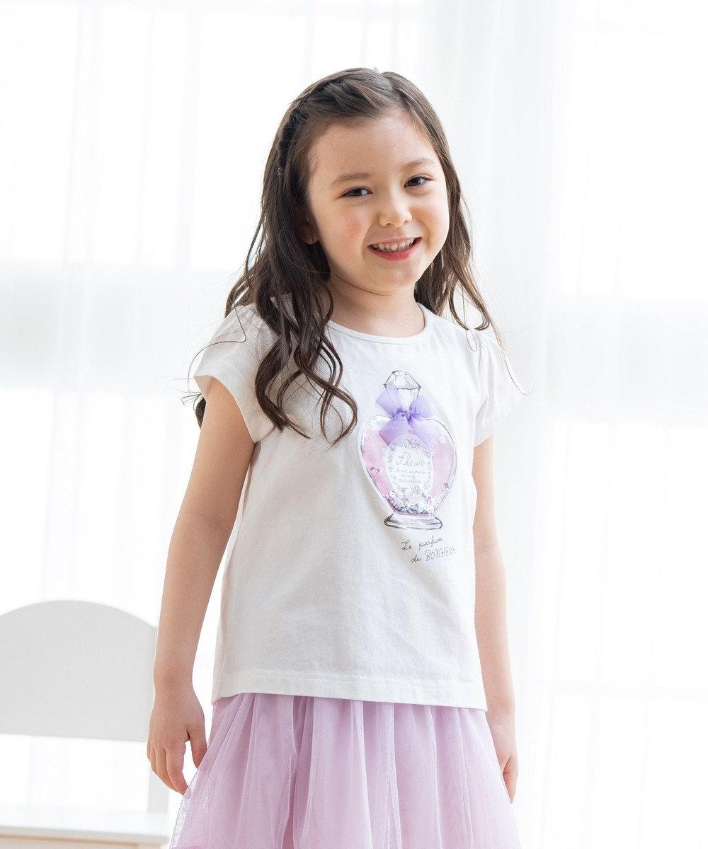 any FAM KIDS シャラシャラビーズ Tシャツ ホワイト(香水)