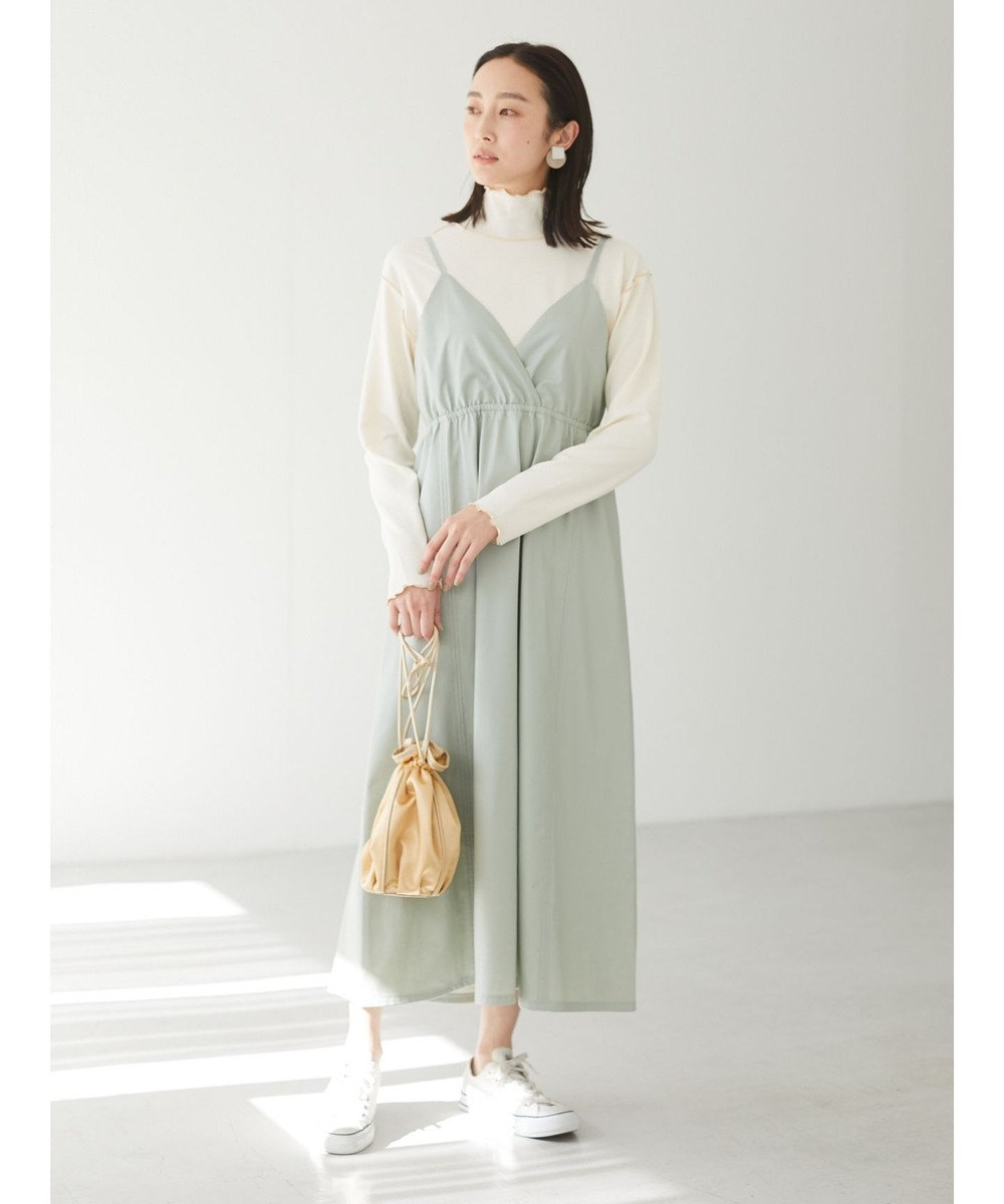 Green Parks ・novem9 ハイネックメローstプルオーバー Ivory