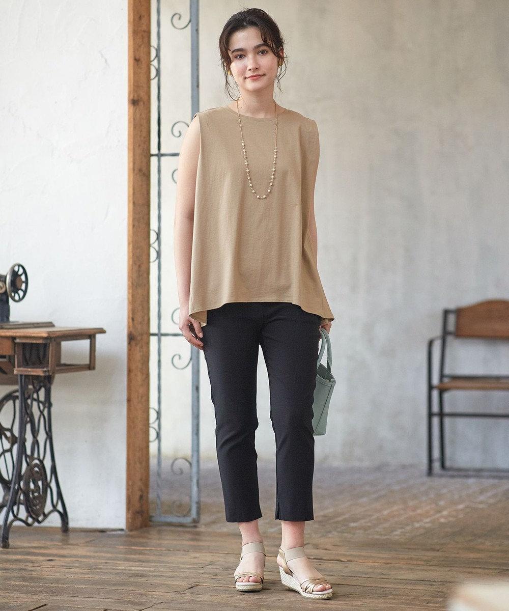 any SiS L 【L'aube】バックフレアーディテール カットソー ライトモカ