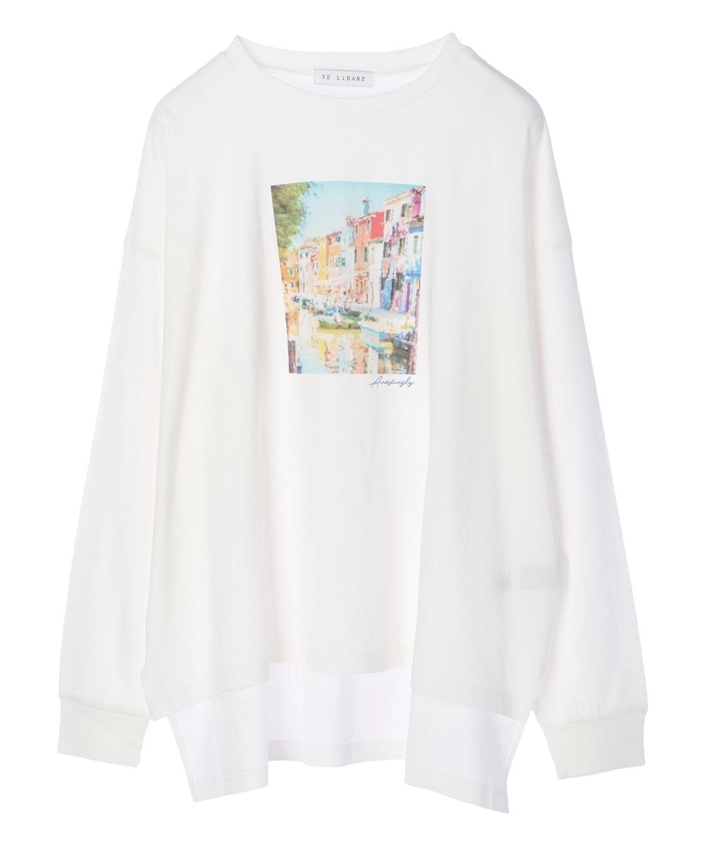 Green Parks フォトプリントロンT Off White