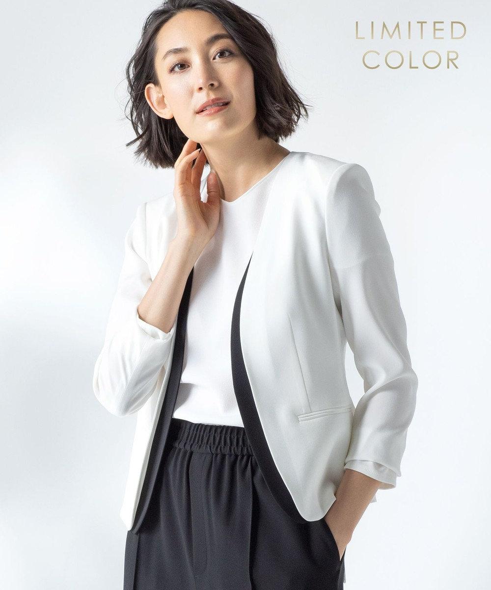 BEIGE, 【限定色あり】CINDY / ダブルカラージャケット [限定]White