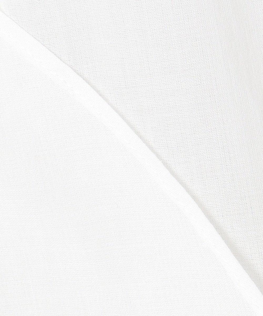 組曲 S 【WEB限定カラーあり/洗える】ソフトコットンローン  フロントフリル ハイネックブラウス ホワイト系