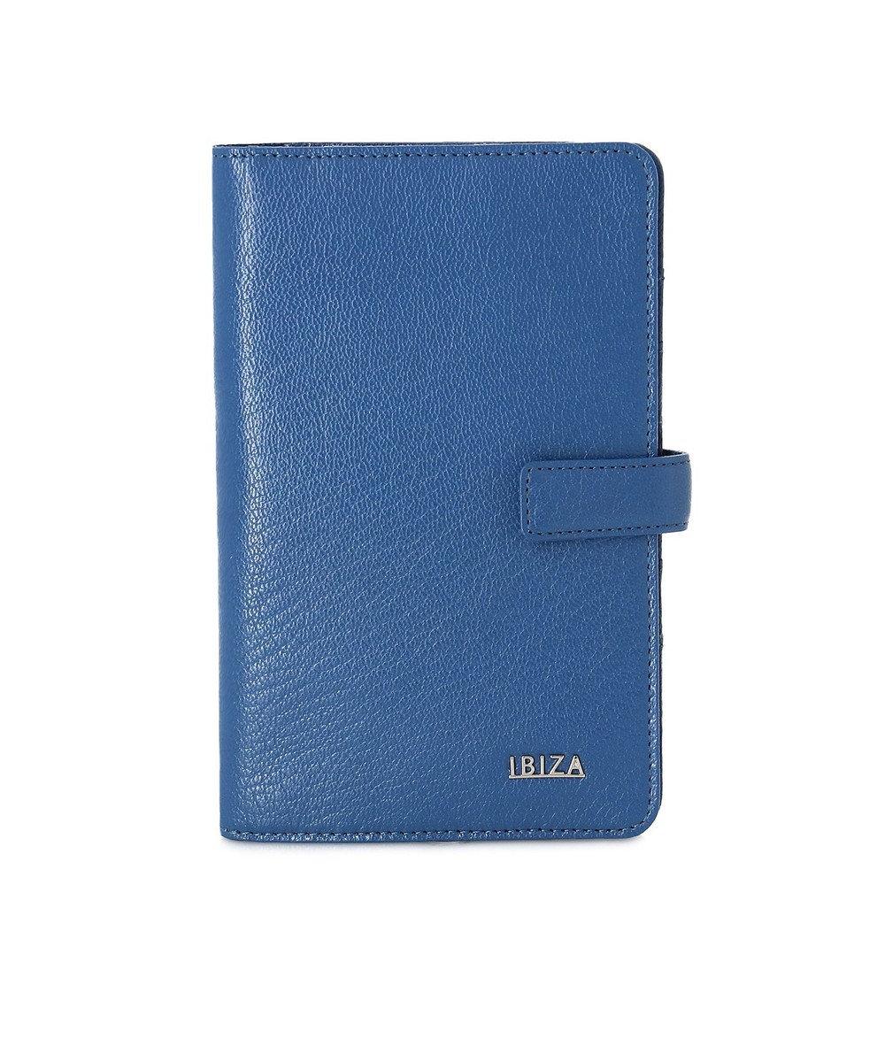 IBIZA ルス やぎ革 カードケース 青