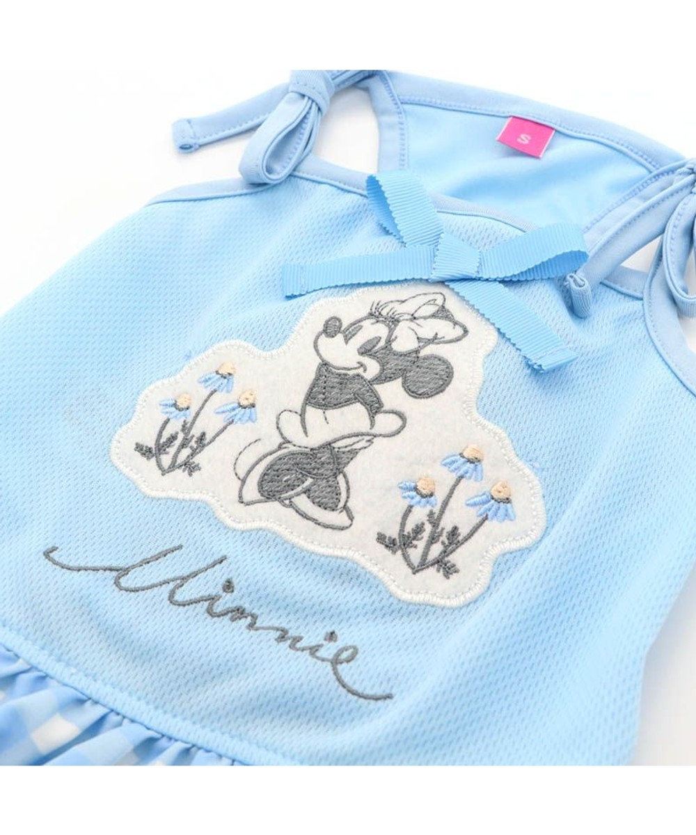 PET PARADISE ペットパラダイス ディズニー ミニーマウス ギンガム 保冷剤付き ポケット クール ワンピース 〔小型犬〕 超小型犬 小型犬 ひんやり 夏 涼感 冷却 水色