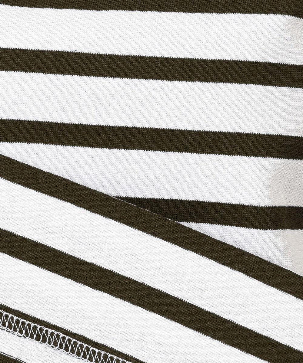 自由区 【WEB限定カラー有】Le Minor(ルミノア) ボーダーカットソー ホワイト×モカ